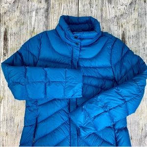 Lands End Woman's Quilted Down Puffer Jacket 10-12